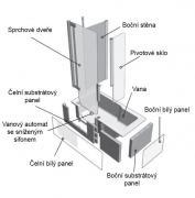 DUETT vana + dveře (Technický nákres 1)