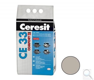 Spárovací hmota Ceresit CE 33 šedá 5 kg CG1