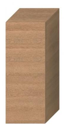 Koupelnová skříňka nízká Jika Cubito 32x32,2x81cm dub