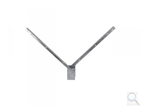 Bavolet na čtyřhranný sloupek PILOFOR® 60 × 60 mm, tvar V, Zn