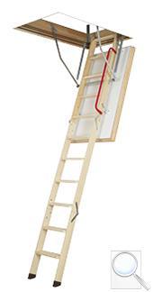 LWT termoizolační skládací schody s dřevěným žebříkem
