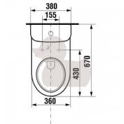 Stojící WC mísa kombi (Technický nákres (3))