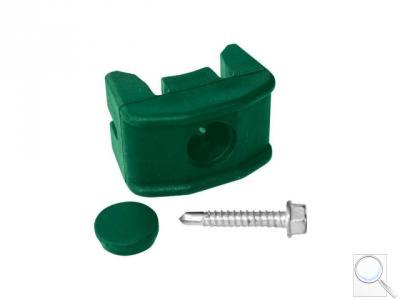 Příchytka panelu PILOFOR® PVC na sloupek průměr 48 mm, včetně šroubu, zelená