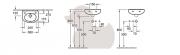 Umývátko O.Novo (Technický nákres (dva otvory pro baterii))