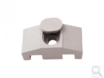 Příchytka z PVC k uchycení panelů ke čtyřhranným sloupkům včetně krytky na hlavu šroubu (SUPER) - šedá
