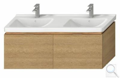 Koupelnová skříňka pod umyvadlo Jika Cubito 128x46,6x48 cm dub obr. 1