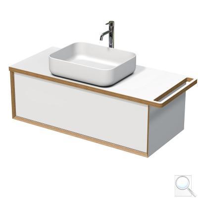 Koupelnová skříňka pod umyvadlo s držákem ručníku Naturel Oxo Multi 118x39x50 cm bílá mat OXOMULTI110KDLP