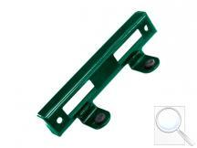 Doraz branky kovový zelený