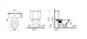 Stojící WC kombi Ricordi (technický nákres)