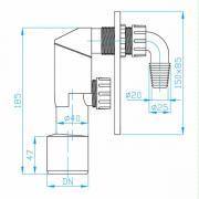 Sifon pračkový (Technický nákres)