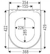 WC sedátko O.Novo (Technický nákres)