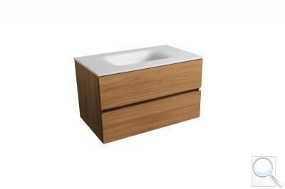 Koupelnová skříňka sumyvadlem černá mat Naturel Verona
