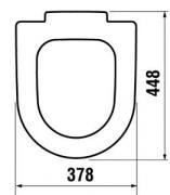 WC sedátko Softclose Cubito, Mio (Technický nákres)