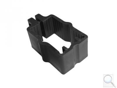 Objímka PVC na sloupky 60 × 40 mm pro panely PILOFOR® - černá