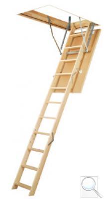 LWS Smart zateplené skládací schody s dřevěným žebříkem