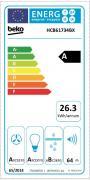 Odsavač par komínový (Energetický štítek)