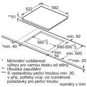 Vestavná indukční varná deska SIEMENS (Technický nákres)