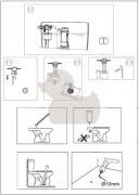 Stojící WC kombi Eur (Technický nákres 2)