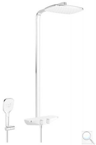 Sprchový systém Hansa EMOTION s termostatickou baterií bílá/chrom 5865017182
