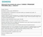 Vestavná myčka nádobí Siemens SN 636X01G (informační list)