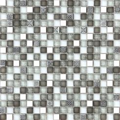 Mozaika šedá | rozměr:  30 x 30 cm | kód: MOSV15MIXGY