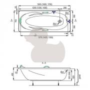Nízká vana (Technický nákres)