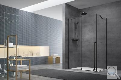 Sprchová zástěna Walk-In /  Dveře Walk-in Xmotion sestava v kombinaci s černou