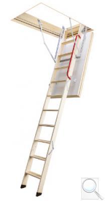 LTK Energy termoizolační skládací schody s dřevěným žebříkem