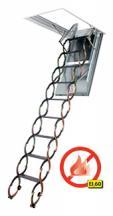 Stahovací protipožární schody