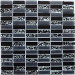 Mozaika černá | rozměr:  30 x 30,5 cm | kód: MOS4815CRBK