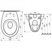 WC závěsné (Technický nákres)