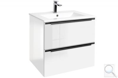 Koupelnová skříňka sumyvadlem Nobia bílá lesk