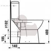 Stojící WC mísa kombi (Technický nákres (2))