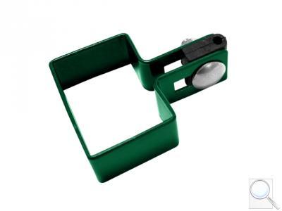 Příchytka na sloupek 60 x 40 mm koncová, zelená