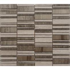 Mozaika šedá   rozměr:  30 x 30 cm   kód: STMOS2570GY