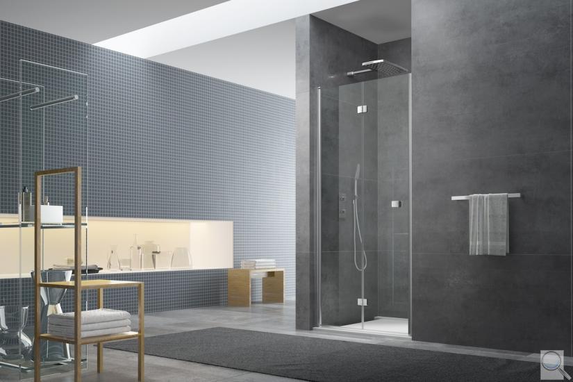 Skládací sprchové dveře SK Dekor transparent