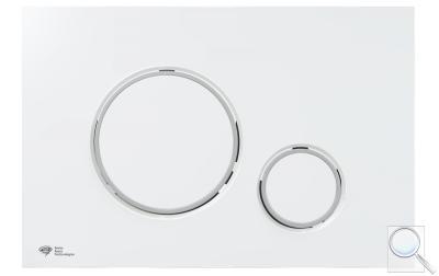 Ovládací tlačítko SAT plast bílá/chrom lesk SATAT70 obr. 1