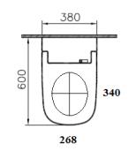 Závěsné WC s bidetem (Technický nákres (1))