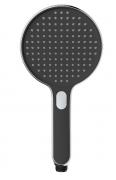 Sprchový systém SAT na stěnu s termostatickou baterií černá/chrom SATSSTPBCHC (Přepínání pomocí tlačítka)