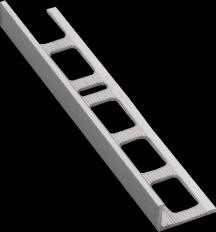 Lišta ukončovací L kartáčovaný hliník elox