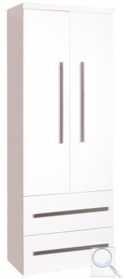 Koupelnová skříňka vysoká Cube Way Bílá lesk