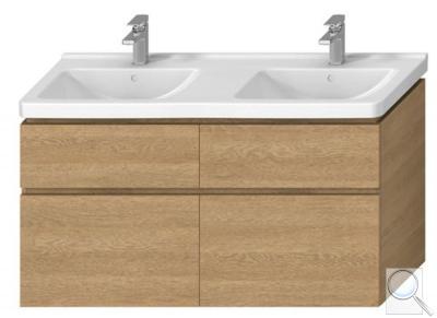 Koupelnová skříňka pod umyvadlo Jika Cubito 128x46,7x68,3 cm dub obr. 1