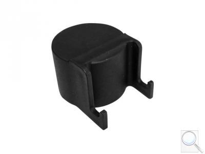 Čepička sloupku průměr 48 mm s háčky na čele, černá