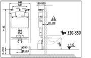 Komplet WC (Technický nákres 2)