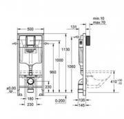 Grohe Rapid SL nádrž k WC (Technický nákres)