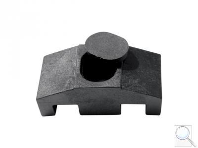 Příchytka z PVC k uchycení panelů ke čtyřhranným sloupkům včetně krytky na hlavu šroubu (SUPER) - černá