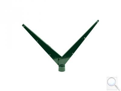 Bavolet na kulatý sloupek IDEAL® průměr 48 mm tvar V zelený Zn + PVC