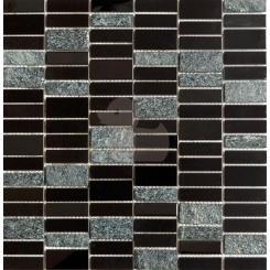 Mozaika černá   rozměr:  29,8 x 30,4 cm   kód: MOS4815BK