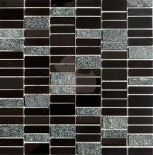 Nerezová mozaika Premium Mosaic Stone černá
