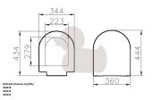 WC sedátko S50 (Technický nákres 1)